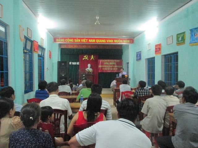 Phường Tân Thạnh tổ chức buổi Hội nghị triển khai Hiến pháp nước cộng hòa xã hội chủ nghĩa Việt nam và Luật đất đai sửa đổi.